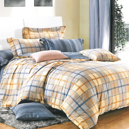 美夢元素 精梳棉涼被床包組 似水年華-雙人四件式