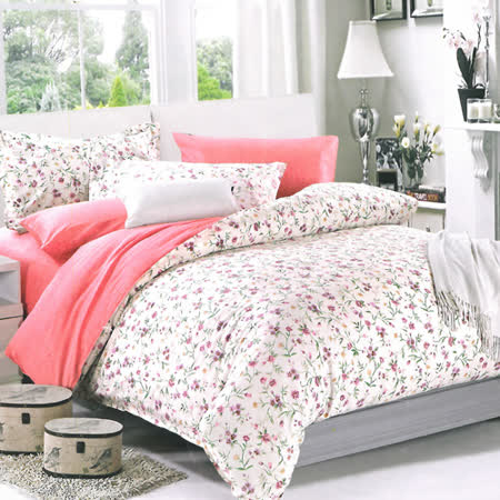 美夢元素 精梳棉涼被床包組 青青草-雙人加大四件式