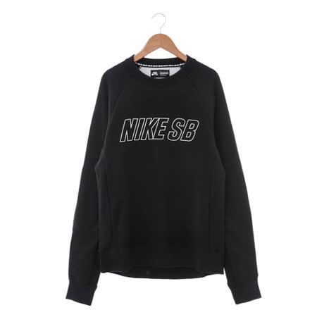 NIKE (男) 圓領T(長) 黑白 800140010