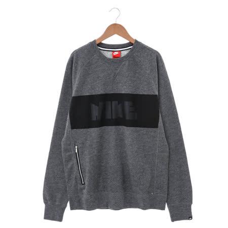 NIKE (男) 圓領T(長) 灰黑 807490071