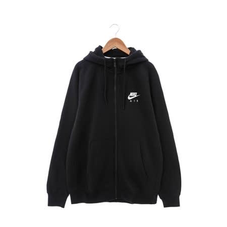 NIKE (男) 棉質--運動外套(連帽) 黑白 809057010