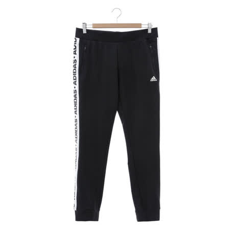 Adidas (女) 運動棉長褲(厚) 黑白 AZ4885