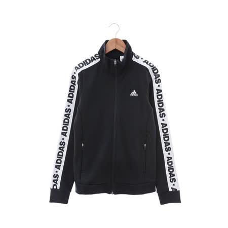 Adidas (女) 棉質--運動外套 黑白 AZ4876