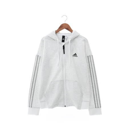 Adidas (女) 棉質--運動外套 灰白 AZ4848