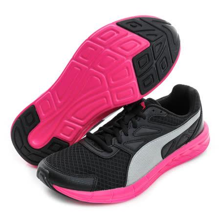PUMA (女) 慢跑鞋 黑灰螢光粉 18906204