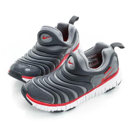 NIKE (童) 慢跑鞋 灰紅白 343738010