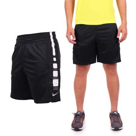 (男) NIKE 針織短褲-慢跑 路跑 黑白