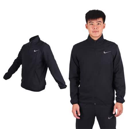 (男) NIKE 梭織夾克-立領外套  慢跑 路跑 黑灰