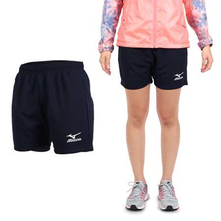 (女) MIZUNO 排球褲- 排球短褲 慢跑 美津濃 丈青白