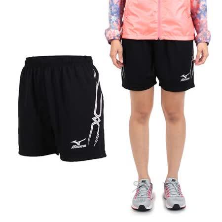 (女) MIZUNO 排球褲- 排球短褲 慢跑 美津濃 黑白