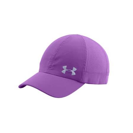 (女) UNDER ARMOUR UA FLY FAST 訓練帽-慢跑 帽子 防曬 紫銀 F