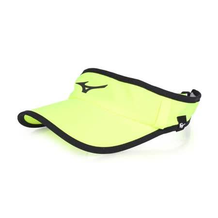 (女) MIZUNO 運動慢跑空心帽-路跑 防曬 帽子 螢光黃黑 F