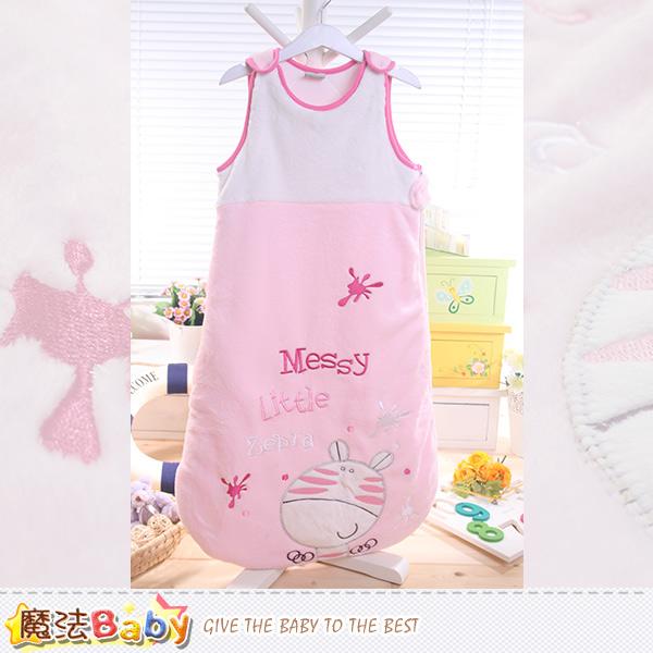 魔法Baby~柔舒雪絨加厚鋪棉寶寶防踢睡袋 嬰幼兒用品 k43731