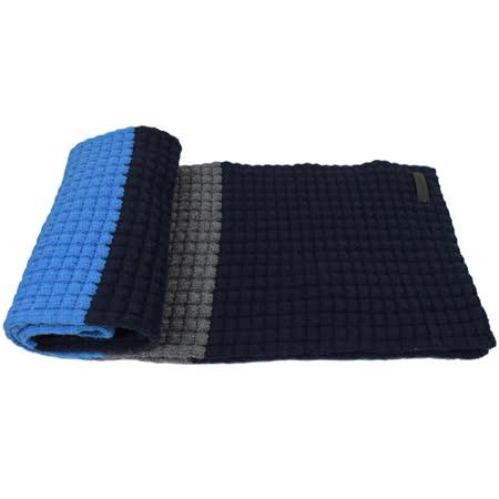 BURBERRY 時尚配件喀什米亞羊毛長圍巾.藍/深藍
