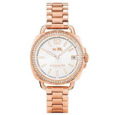 COACH Boyfriend 時尚奢華晶鑽腕錶/34mm/14502644