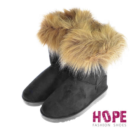 【真心勸敗】gohappy 線上快樂購【HOPE】爆毛素面內鋪毛雪靴-黑【CL103-21107】心得愛 買 吉安 高雄
