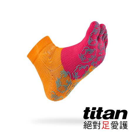Titan 五趾功能慢跑襪[橘/桃]