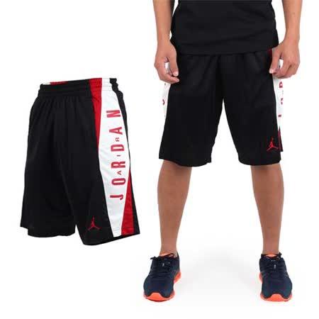 (男) NIKE 針織短褲 -JORDAN 喬丹 籃球 籃球褲 黑白紅