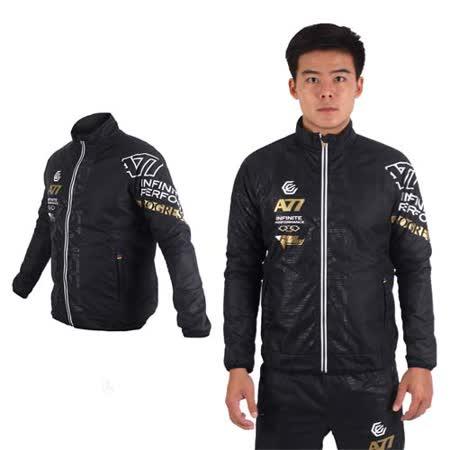 (男) ASICS A77 保暖風衣外套 - 防風 亞瑟士 黑白金