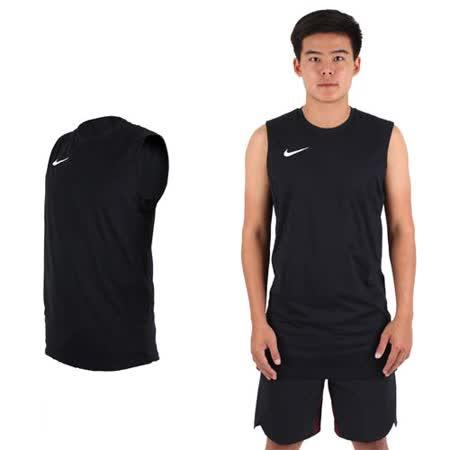 (男) NIKE 針織背心 -路跑 慢跑 球衣 籃球背心 運動背心 黑白