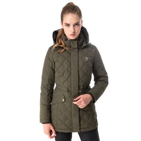 【hilltop山頂鳥】女款WS抗風保暖蓄熱羽絨短大衣F22FV2綠