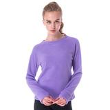 【hilltop山頂鳥】女款圓領保暖刷毛上衣H51FG1紫