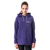 【hilltop山頂鳥】女款連帽保暖刷毛長版上衣H51FG5紫