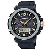 【CASIO 卡西歐】PROTREK戶外活動高亮度照明登山錶(57mm/PRG-600-1)