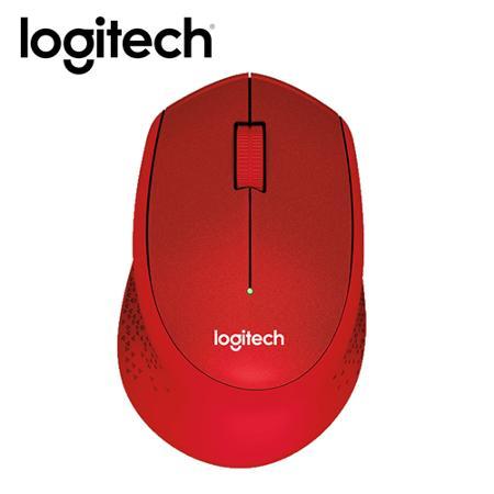 Logitech 羅技 M331 無線靜音滑鼠(紅)