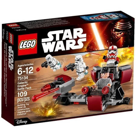 【LEGO樂高積木】Star Wars星際大戰系列-Galactic Empire Battle Pack LT-75134