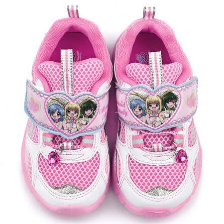 童鞋城堡-真珠美人魚 中大童 透氣運動鞋PI5873-粉