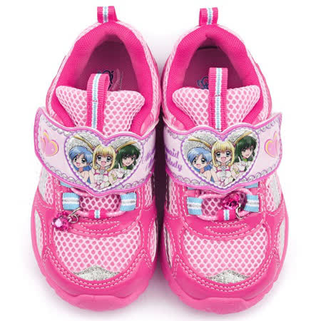 童鞋城堡-真珠美人魚 中大童 透氣運動鞋PI5873-桃