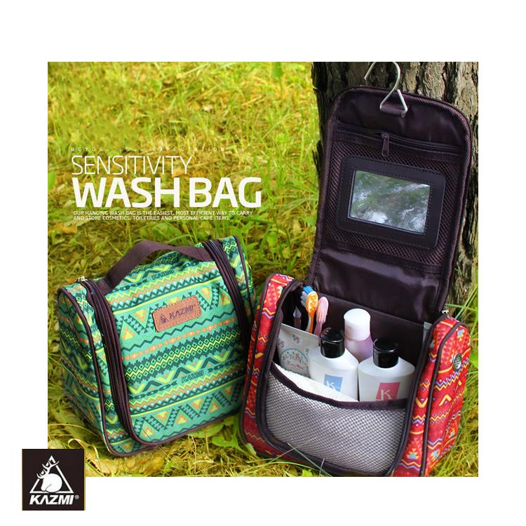KAZMI 多 盥洗收納包K5T3B008 民族風紅 城市綠洲 戶外、收納、民族風、盥洗包、旅遊