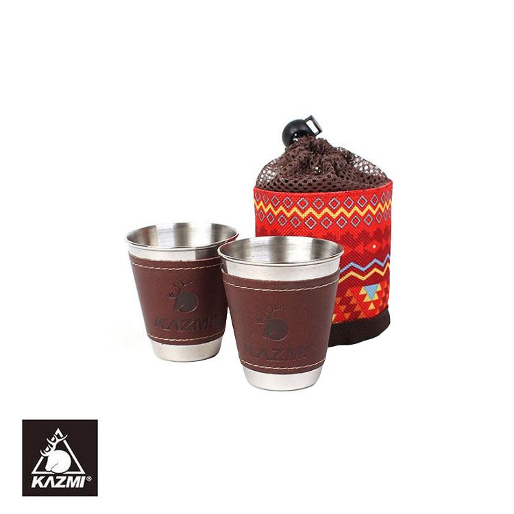 KAZMI 仿皮革不銹鋼杯K5T3K005城市綠洲^(戶外、露營、不銹鋼、民族風、杯^)