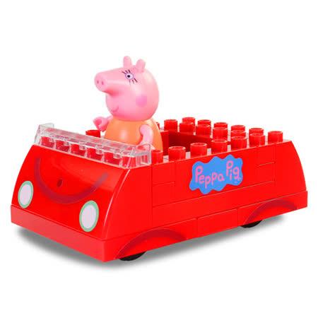 【粉紅豬小妹】積木系列-粉紅豬的車 PE06035