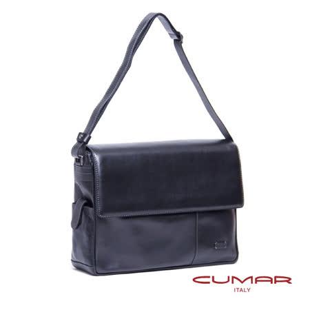 CUMAR 義大利原裝進口-半蓋側背包-附電腦保護套 0296-C42-01