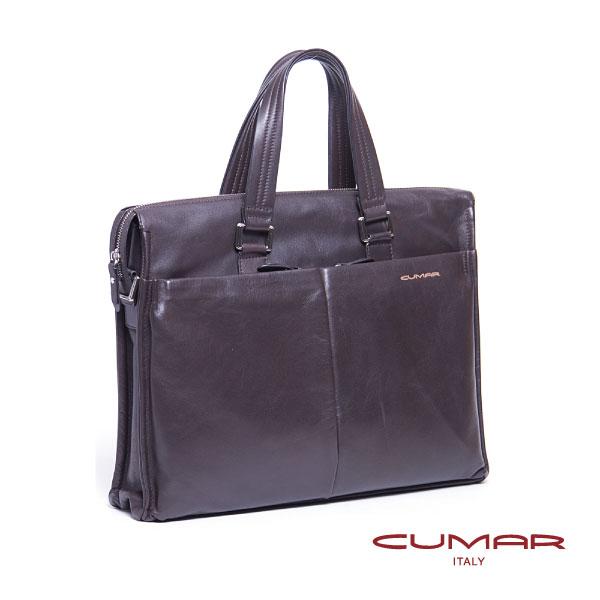 CUMAR 全皮直立手提側背兩用包 0296~D25~02