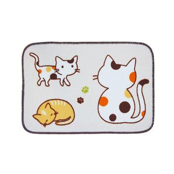 安田卡通止滑踏墊A-散步貓(40x60cm)