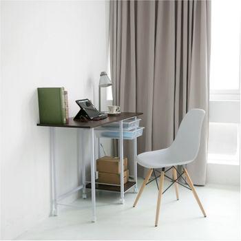 附抽屜移動式摺疊電腦桌(45*45*75cm)
