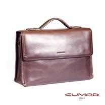 CUMAR 全皮雙磁釦公事包 0296-A18-02