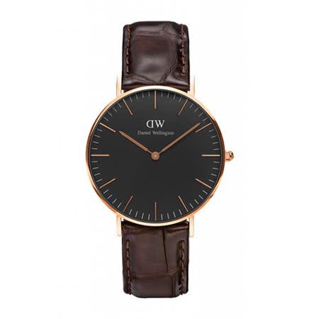 【真心勸敗】gohappy線上購物Daniel Wellington 經典咖啡壓紋皮革腕錶-金框/36mm(DW00100140)效果如何三重 愛 買 營業 時間