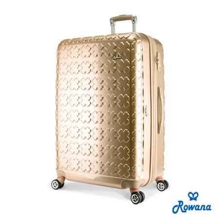 Rowana 繽紛幸運草可加大防爆拉鍊行李箱 28吋(香檳金)
