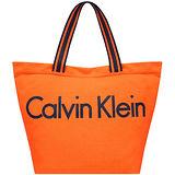 Calvin Klein 厚織帆布托特包-大型