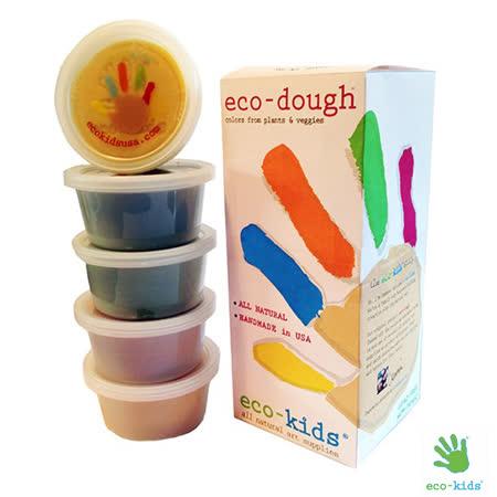 美國 Eco-Kids 小朋友天然黏土 (一組5罐)
