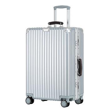 美安獨家(買大送小) 復古鋁框 29吋PC鏡面行李箱
