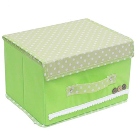 月陽田園風38X25硬盒掀蓋式衣物雜物整理箱收納盒(40LC)