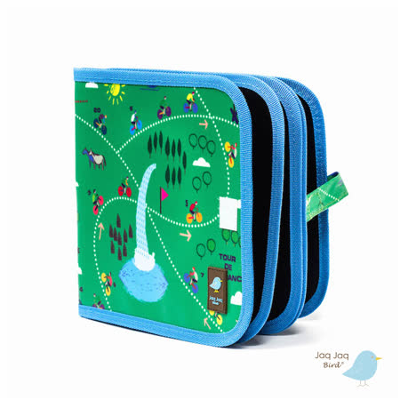 美國 Jaq Jaq Bird 小朋友攜帶型粉筆畫冊 (環法自行車)