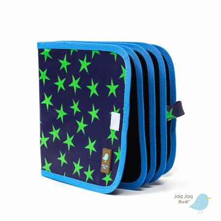 美國 Jaq Jaq Bird 小朋友攜帶型粉筆畫冊 (小星星-藍綠)