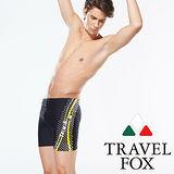 【TRAVELFOX 旅狐】大男點點印花五分泳褲(C14905)