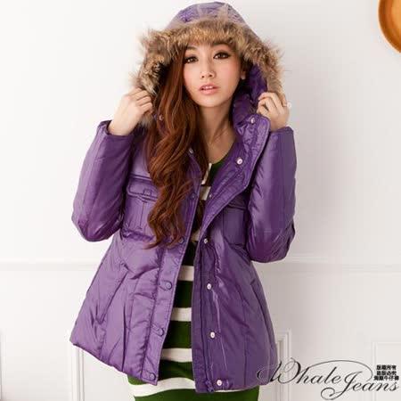 保暖冬季經典輕暖羽絨外套-2色_紫